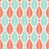 Seamless leaves pattern — Stock Vector