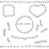 Doodle floral elements — Stock Vector