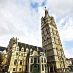 Belfort tower or Belfry of Gent, Flanders, Belgium — Stock Photo #74610671