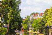 View from one canal of Utrecht, Netherlands — Stock Photo