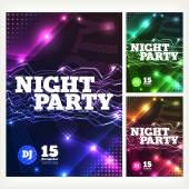 Night party Vector — Stockvektor