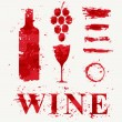 Wine elements consisting of a spray — Stock Vector #56511101