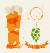 Beer and elements consisting — Stock Vector