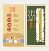 The abstract image of a menu with sushi — Stock Vector
