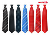 Set realistic colorful neckties. — Stock Vector