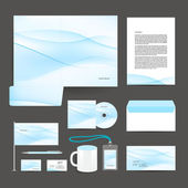 Corporate identity template design stationery. — Stock Vector