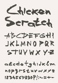 Grunge pomocné typ písma, vintage typografie — Stock vektor