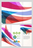 Abstract wave Vector Brochure Template. — Stock Vector