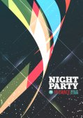 Night party Vector — Stock Vector