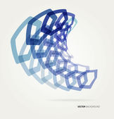 Abstract wave Vector hexagons template. — Stockvektor