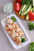 Chicken shish kebab — Stockfoto