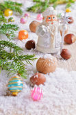 Postcard for the New year and Christmas — Foto Stock