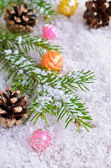 Postcard for the New year and Christmas — Stock Photo