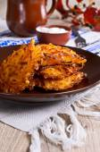 Vegetable fritters — Stock Photo
