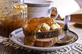 Sandwich with jam — Stock Photo