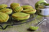 Green cupcake — Stock Photo