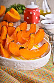 Baked pumpkin slices — Stock Photo