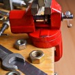 The vise to clamp on the desktop — Stock Photo #58924913