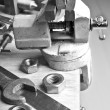 The vise to clamp on the desktop — Stock Photo #58925033
