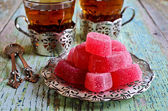Candy pink jelly  — Stockfoto