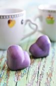Candy in the shape of a heart — Stockfoto