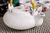 Ceramic set for tea ceremony — Stock Photo