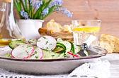 Salad of radish and cucumber — Stock Photo