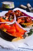 Eggplant with vegetables — Stock Photo