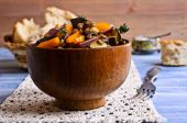 Lentils cooked with vegetables — Stock Photo