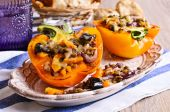 Lentils with roasted vegetables in paprika — Stock Photo