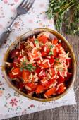 Rice with paprika — Stock Photo