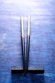 Black chopsticks — Stock Photo