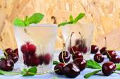 Cocktail with cherry — Stock Photo