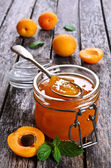 Jam from apricots — Stock Photo