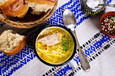 Soup with pasta — Stock Photo