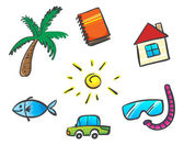 Things for summer — Stock Vector