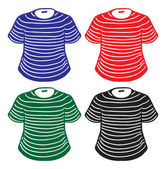 Set of stripes-coloured shirts — Stock Vector
