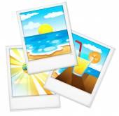 Beach photos — Stock Vector