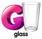 A letter G for glass — Stock Vector