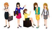 Working women — Stock Vector