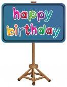 A happy birthday signboard — Stock Vector
