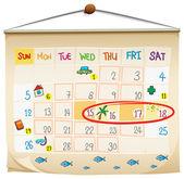 A calendar — Stock Vector