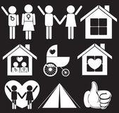 Family planning — Cтоковый вектор