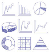 Different graphs — Stock Vector