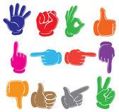 Colourful hands — Cтоковый вектор