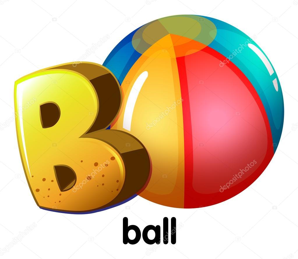 letter B for ball — Stock Vector © blueringmedia #53143035