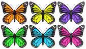 Colourful butterflies — Stock Vector