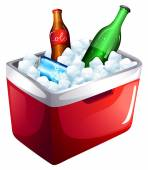 A cooler with softdrinks — Stockvektor