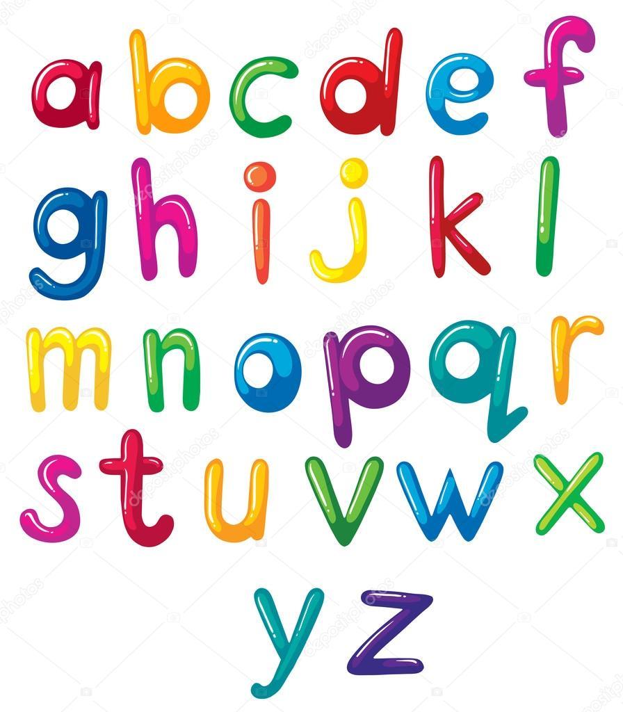 Маленькие буквы английского алфавита раскраска