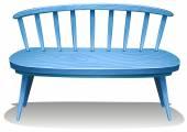 A blue wooden bench — Stock Vector